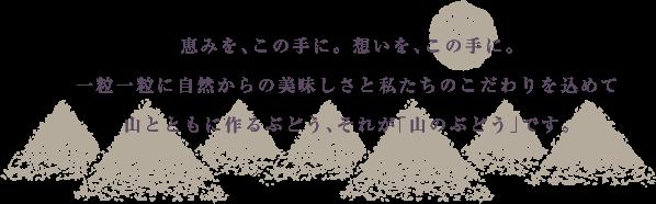 福岡県うきは市にある山の中のぶどう農家