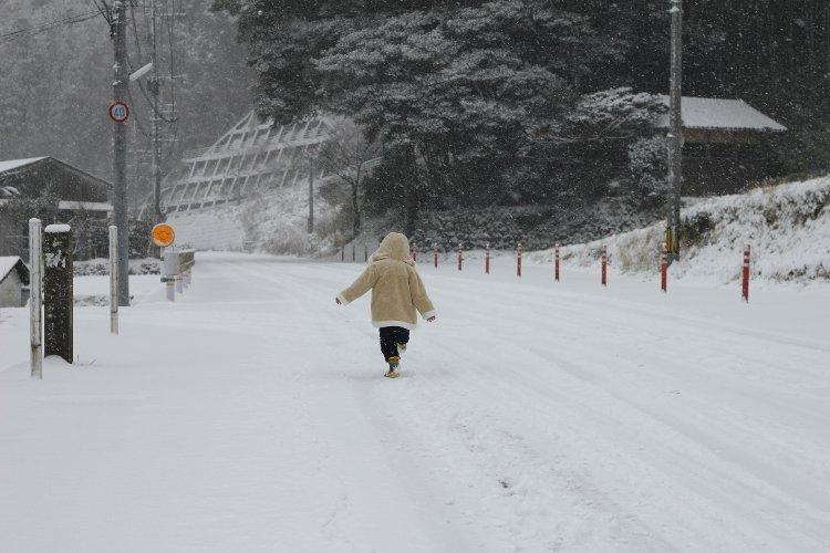 雪道 逃走